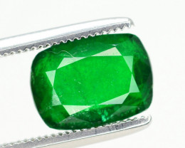 Top Vivid Green Color 2.00 Ct Natural Emerald From Swat