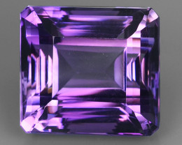 19.60 CTS INCREDIBLE PURPLE AMETHYST OCTOGON URUGUAY VVS