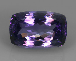 22.40 CTS NOBLE CUSHION CUT PURPLE AMETHYST~URUGUAY  WONDERFUL!!! VVS