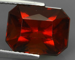 7.65 CTS EXQUISITE NATURAL UNHEATED RED HESSONITE GARNET