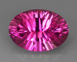 15.25 CTS SUPERIOR! TOP 18X13 OVAL CUT HOT PINK-TOPAZ GENUINE