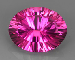 12.55 CTS SUPERIOR! TOP 16X13 OVAL CUT HOT PINK-TOPAZ GENUINE