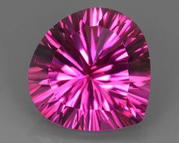 12.80 CTS SUPERIOR! TOP 15 MM PEAR HEART CUT HOT PINK-TOPAZ GENUINE