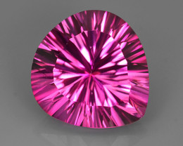 16.20 CTS SUPERIOR! TOP 16MM PEAR HEART CUT HOT PINK-TOPAZ GENUINE