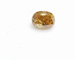 0.24ct  Fancy Intense Brown Orange Diamond , 100% Natural Untreated