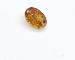 0.32ct  Fancy Intense Orange Diamond , 100% Natural Untreated