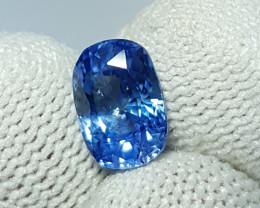 UNHEATED 2.74 CTS CERTIFIED NATURAL CORNFLOWER BLUE SAPPHIRE SRI LANKA