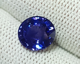 CERTIFIED 2.64 CTS NATURAL STUNNING BLUE TO PURPLE CHANGE SAPPHIRE CEYLON