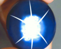 CERTIFIED - 22.27 Carat Thailand Blue Star Sapphire - Gorgeous
