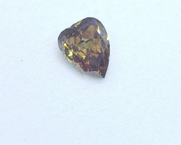 0.21ct  Fancy Deep Yellow Brown Diamond , 100% Natural Untreated