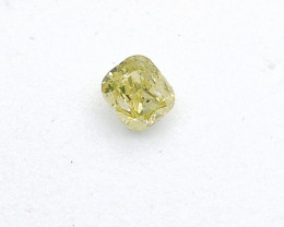 0.16ct  Fancy  grayish Yellow Diamond , 100% Natural Untreated