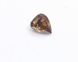 0.22ct Fancy Deep Brown Orange   Diamond , 100% Natural Untreated