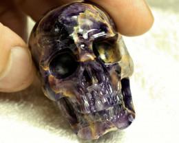 1$NR - 439.0 Carat Amethyst Skull Carving - Cool