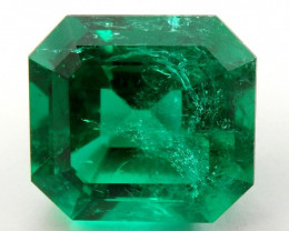 3.06 ct Natural Colombian Emerald Cut Green Loose Gemstone