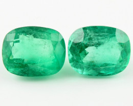 12.47ct Colombian Emeralds Pair Loose Gemstone Earrings Jewelry