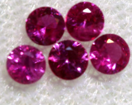 0.56 CTS NATURAL RUBY FACETED STONE PARCEL PG-2771