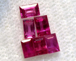 0.70 CTS NATURAL RUBY FACETED STONE PARCEL PG-2776