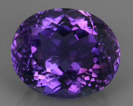 13.80 CTS MAGNIFICENT NATURAL PURPLE-VIOLET AMETHYST NICE OVAL~CUT