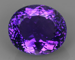 9.10 CTS WOW MAGNIFICENT NATURAL PURPLE-VIOLET AMETHYST NICE OVAL~CUT