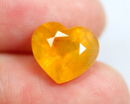 6.01cts Heart Shape Yellow Colour Sapphire / RD199