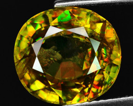 5.52 CT SPHENE WITH DRAMATIC FIRE GEMSTONE SP11