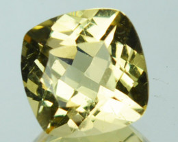 1.11 Cts Natural Mint Yellow Heliodor Beryl Cushion Cut Brazil