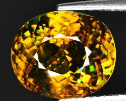 7.53 CT SPHENE WITH DRAMATIC FIRE GEMSTONE SP13