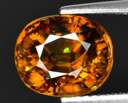 4.04 CT SPHENE WITH DRAMATIC FIRE GEMSTONE SP15