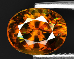 3.95 CT SPHENE WITH DRAMATIC FIRE GEMSTONE SP16