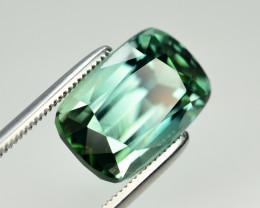 Ravishing Color 6.30 Ct Natural Bluish Green Tourmaline. TA