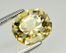 Superb Color 4.80 Ct Natural Goldish Yellow Tourmaline. TA