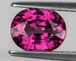 9x7 mm Oval 2.35cts Pink Rhodolite Garnet [VVS]