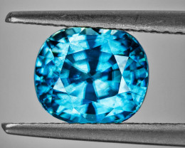 8x7 mm Cushion 3.30cts Blue Zircon [VVS]
