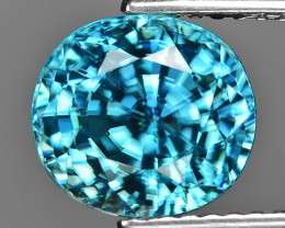 5.59 Cts Blue Zircon Awesome Color and Luster Gemstone BR1