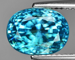 BLACK FRIDAY 5.88 Cts Blue Zircon Awesome Color Gemstone BR3