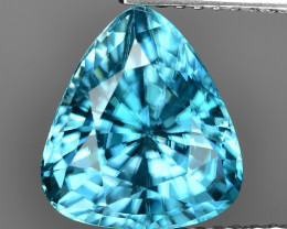 5.36 Cts Blue Zircon Awesome Color and Luster Gemstone BR15