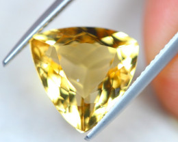 5.65Ct Yellow Citrine Trillion Cut Lot B906