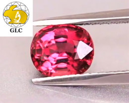 VIVID! Cert. Unheated 1.24 CT Mahenge Spinel $1,200 FREE DHL Shipping!