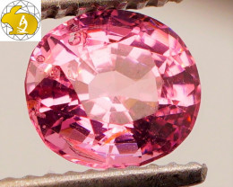 Cert. Unheated 1.35 CT Pink Mahenge Spinel $270 FREE DHL Shipping!