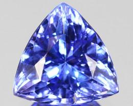 ~STUNNING~ 1.47 Cts Natural AAA Purplish Blue Tanzanite 7.5mm Trillion