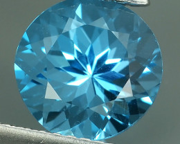 3.05 CTS NATURAL ELONGATED SWISS BLUE TOPAZ BRAZIL