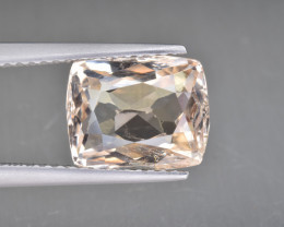 Natural Imperial Topaz 4.40 Cts Faceted Gemstone from Katlang, Pakistan