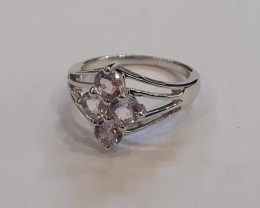 Amethyst 925 Sterling silver ring #594