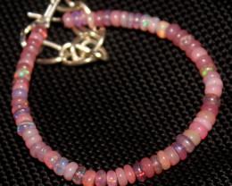 12 Crts Natural Welo Smoked Opal Beads Bracelet 750