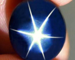 7.58 Carat Thailand Blue Star Sapphire - Gorgeous