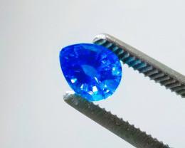 2.51 Ct CERTIFIED Cornflower Blue Faceted Pear Ceylon Sapphire Gemstone