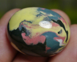 57.05 CT Beautiful Chalcedony Abstract Picture Agate Indonesian Gemstone