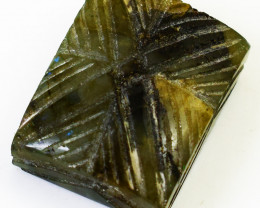 Genuine 145.00 Cts Carved Labradorite Gemstone