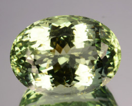 24.40 Cts Natural Green Beryl Aquamarine Oval India Gem