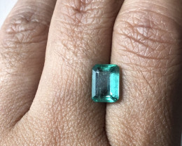Lab Certified - 1.6ct Top Quality Zambian Emerald